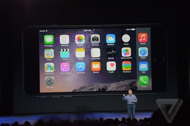 iPhone 6 Plus ландшафтная ориентация