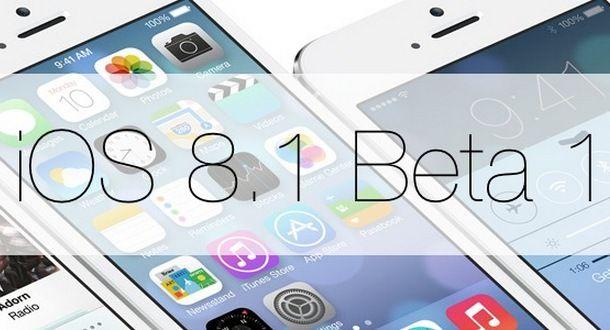 iOS 8.1 beta 1