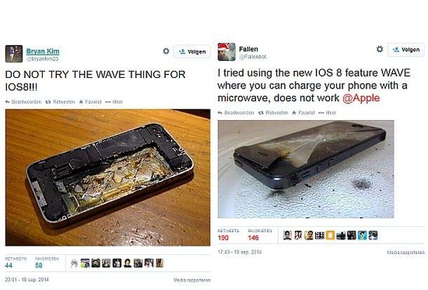Пользователи iOS 8 уничтожают свои iPhone и iPad, поверив в шутку
