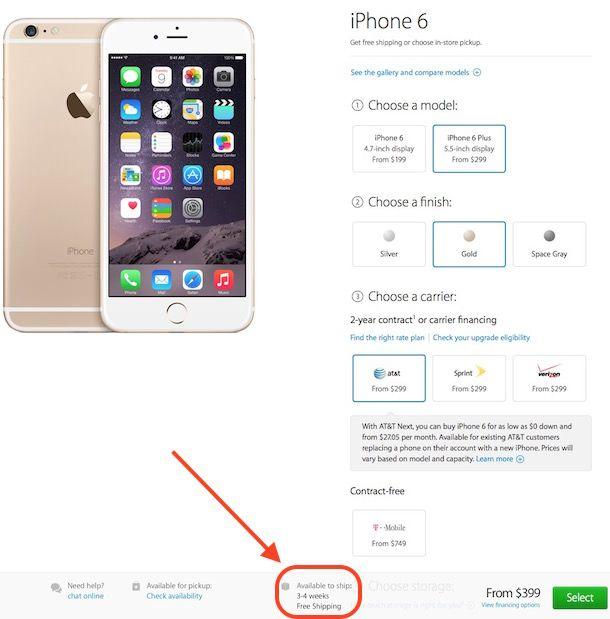 доставка iphone 6