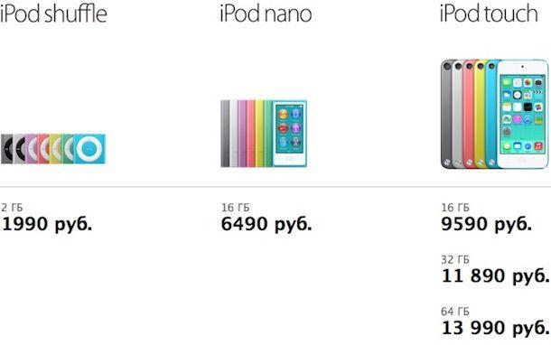 iPod в Apple Store