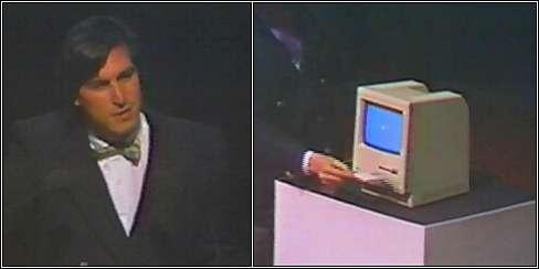 Прическа Стива Джобса в 1984 году