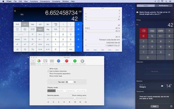 калькулятор PCalc для mac os x yosemite
