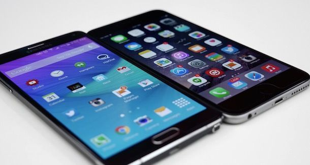 Samsung Galaxy Note 4 iphone 6 plus
