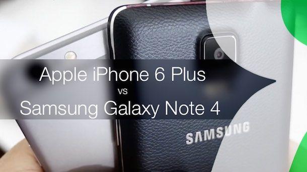 Samsung Galaxy Note 4 и iphone 6 plus дизайн
