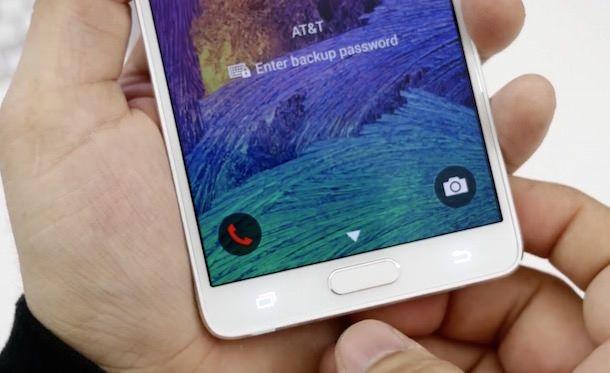 Samsung Galaxy Note 4 датчик отпечатков пальцев