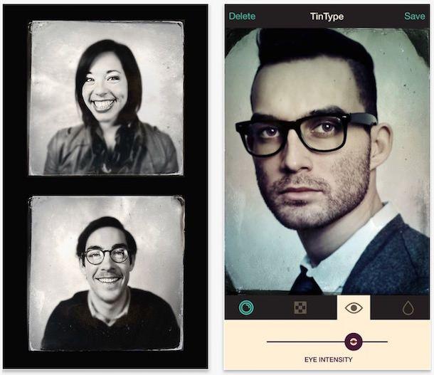 TinType для iPhone состаривание фото