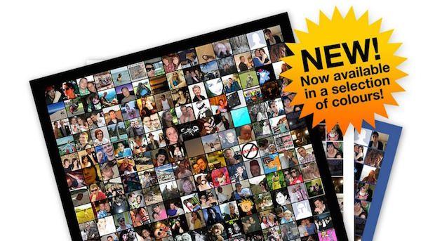 Постер из лиц друзей в Facebook