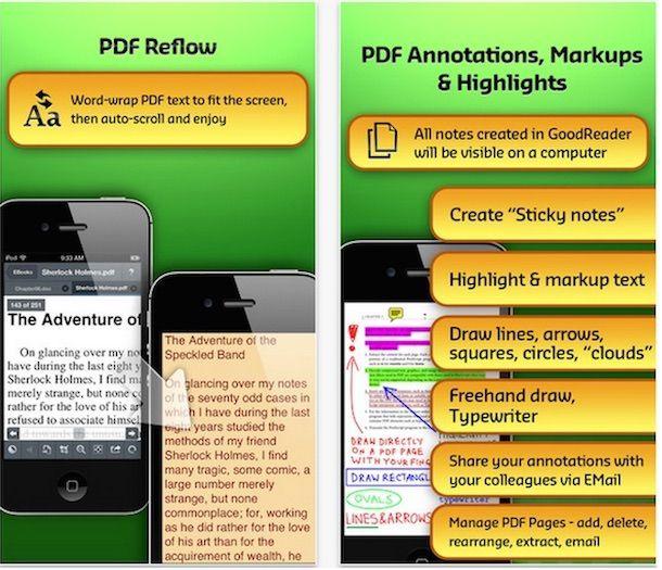 Goodreader PDF-файлы