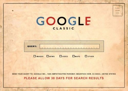 Классический интерфейс Google