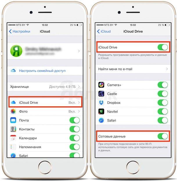 Как работает iCloud Drive на iPhone, iPad и Mac