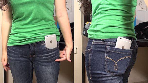 iPhone 6 в кармане женских джинсов