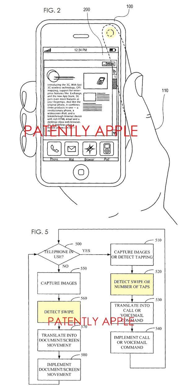 управление iPhone при помощи свайпов по камере