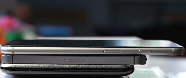 Сравнение толщины и длины iPhone 3Gs, iPhone 5 и iPhone 6 Plus