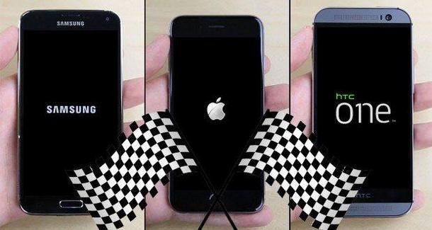 Видео сравнения быстродействия iPhone 6, Galaxy S5 и HTC One (M8)
