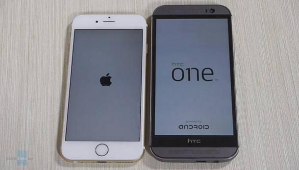 iPhone 6 vc HTC One M8