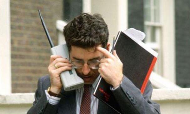 Реклама сотовых телефонов в 80-ы и 90-е годы