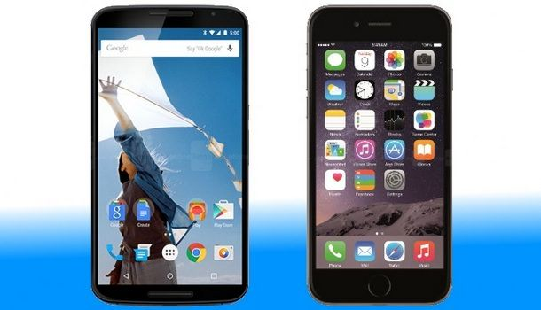 Google Nexus 6 vs iPhone 6 Plus