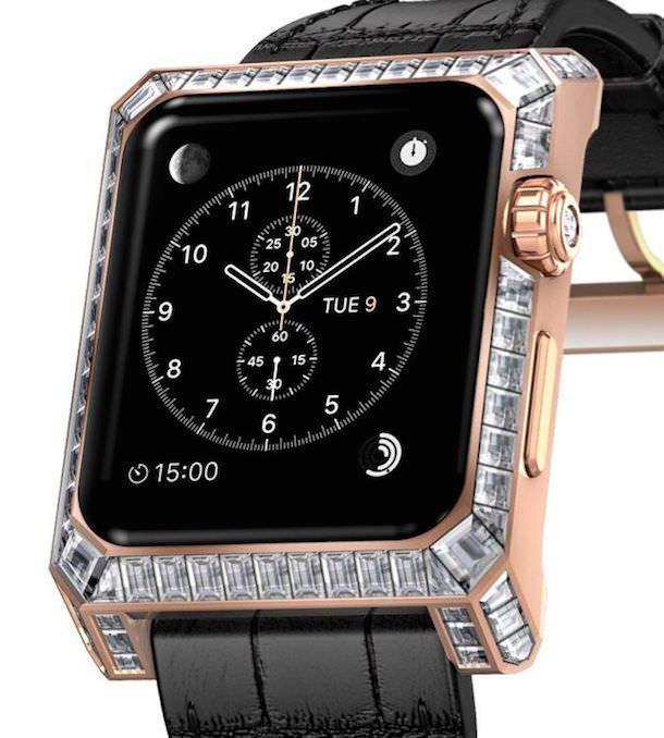 Золотые Apple Watch с бриллиантами