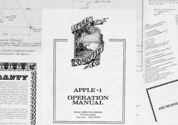 Мануалы к Apple I 1976 год
