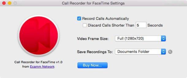 Настройки Call Recorder