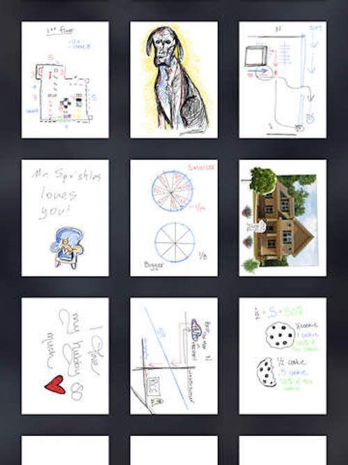 Loose Leaf, приложение-органайзер для iPad с интерфейсом «записок на салфетках»