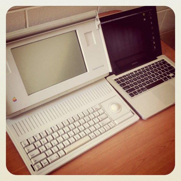 Первый ноутбук Apple Macintosh Portable