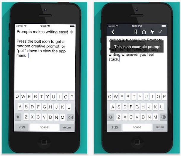 Prompts - приложение для писателей iPhone и iPad