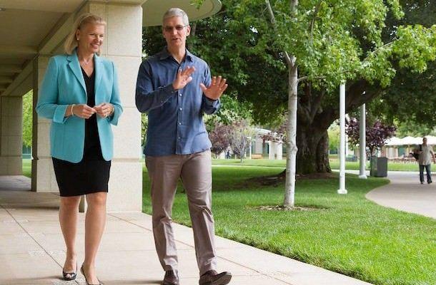 На фото вместе с CEO IBM Джинни Рометти
