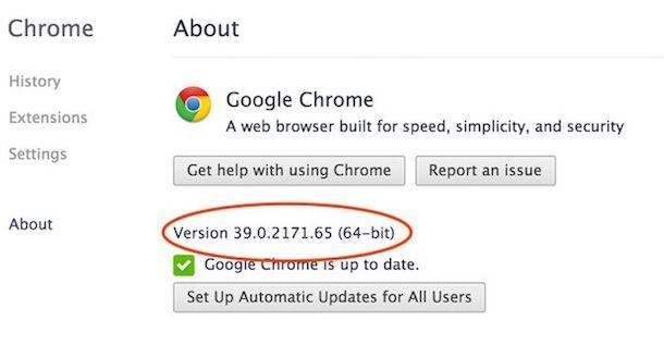 Браузер Google Chrome 39 для Mac