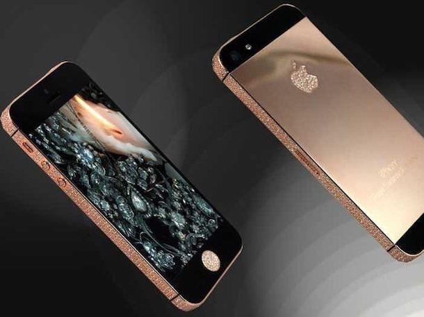 Розово-золотой iPhone от Goldstriker