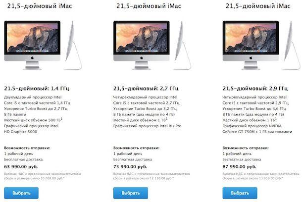iMac цена в России