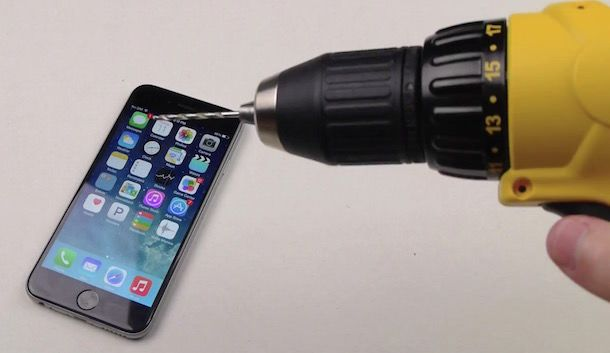 iPhone 6 против дрели