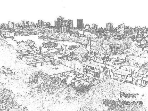 Пример фотографии сделанной с помощью Paper Camera