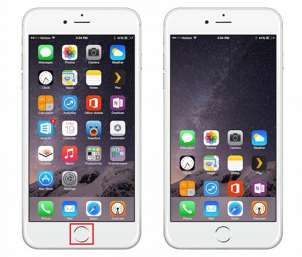 iPhone 6 Plus, функция Reachability