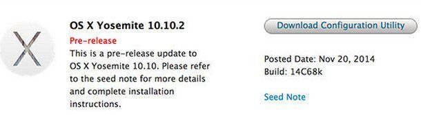 OS X 10.10.2 Yosemite beta