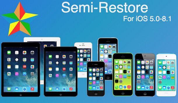 SemiRestore для iOS 8