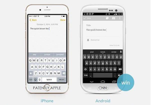 Набор текста на iOS и Android