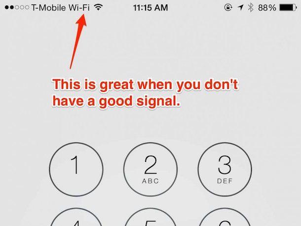 Звонки через Wi-Fi на 6 Plus