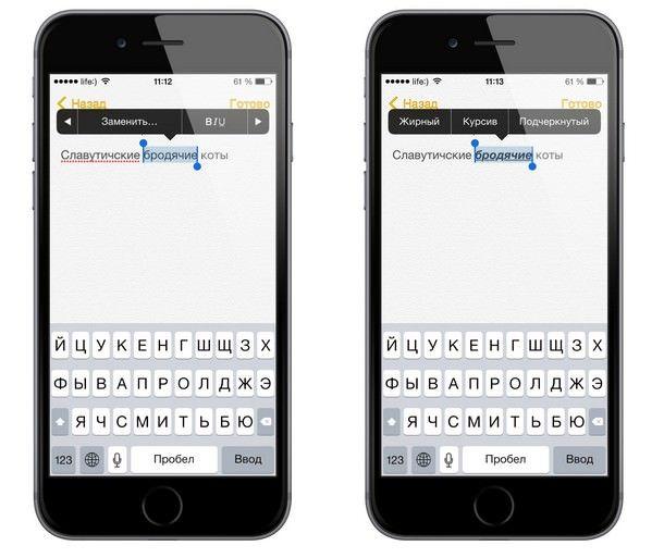 Заметки в iOS 8