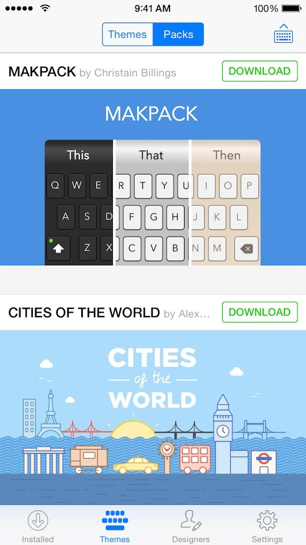 Сторонняя клавиатура Themeboard для iOS 8-3