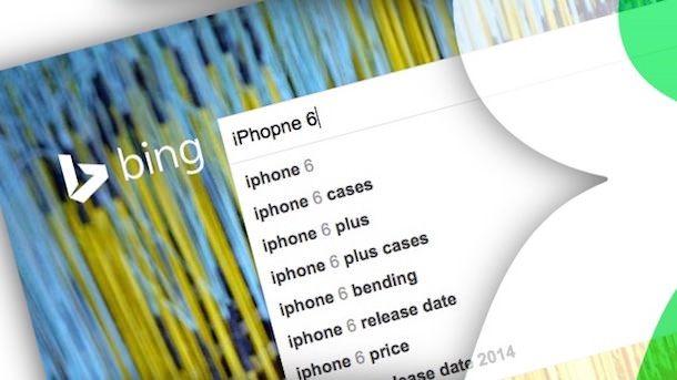bing поиск iphone 6
