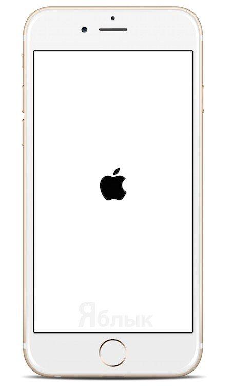 Экран загрузки Яблоко на iPhone 6