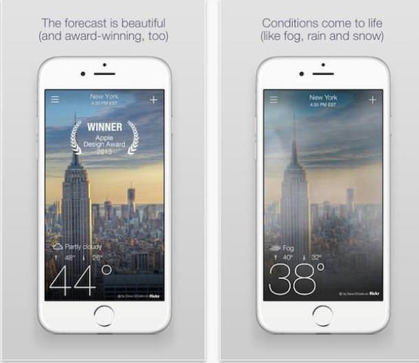 В Yahoo! Weather появилась новая анимация погоды и улучшен дизайн для владельцев iPhone 6 и 6 Plus