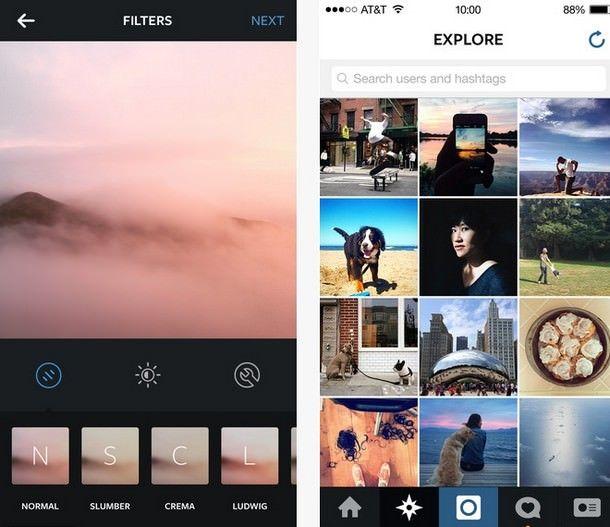 Новые фильтры в обновленном клиенте Instagram