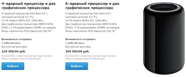 Mac Pro цена в России
