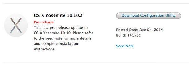 OS X Yosemite 10.10.2 beta 2