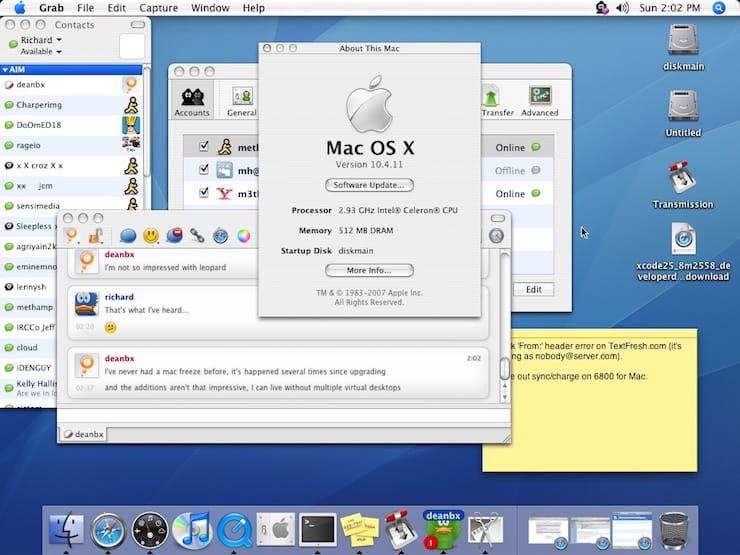 Mac OS X 10.4 Tiger (2005)