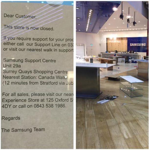 розничный магазин Samsung