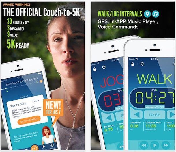 Couch-to-5K программа для бега на iPhone